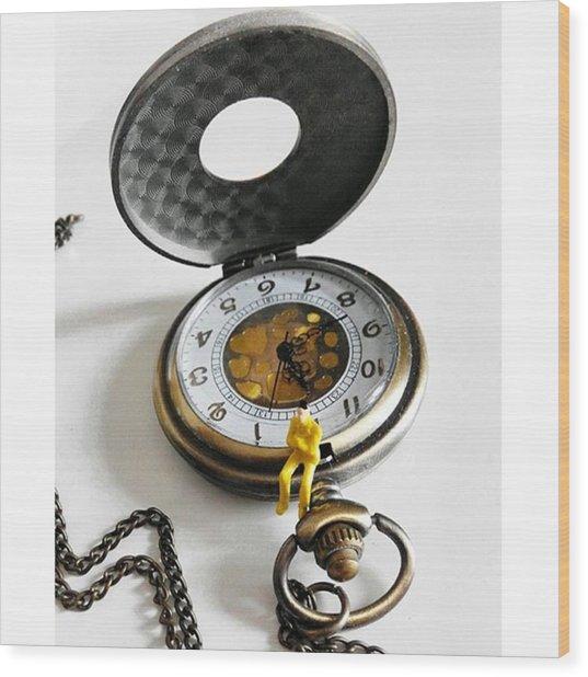 #watch #clock #time #vintage #steampunk Wood Print