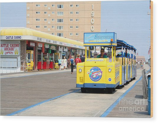 Watch The Tram Car Please Wood Print