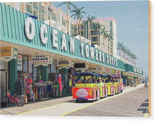 Watch The Tram Car - Wildwood, Nj Wood Print
