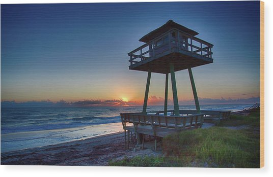 Watch Tower Sunrise 2 Wood Print