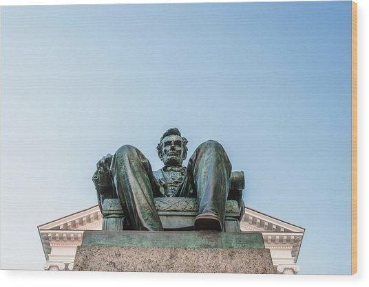Watchful Abe Wood Print