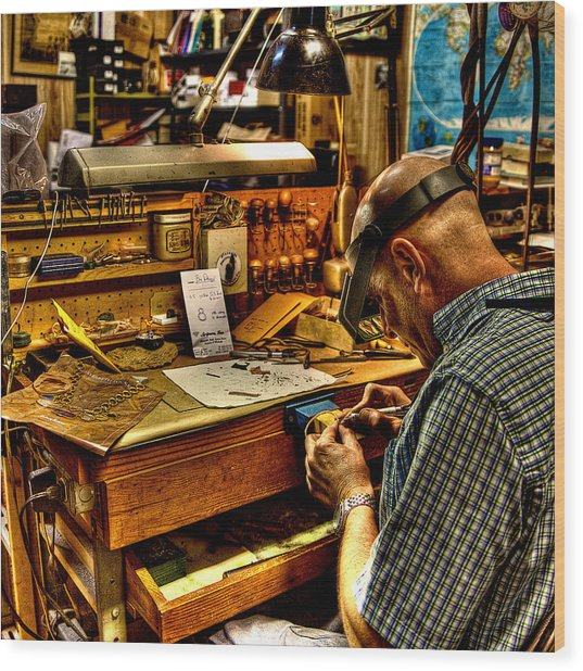 Watchmaker Wood Print
