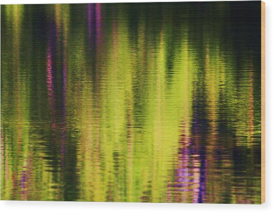 Water Abstract 3 Wood Print by Russell  Barton