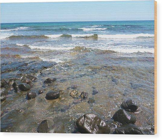 Water And Rocks Wood Print