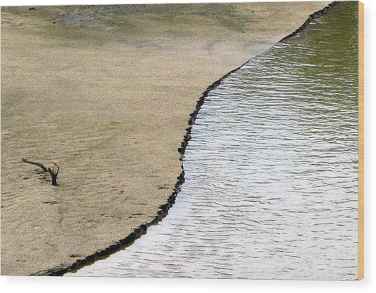 Water And Sand Wood Print by Dottie Dees