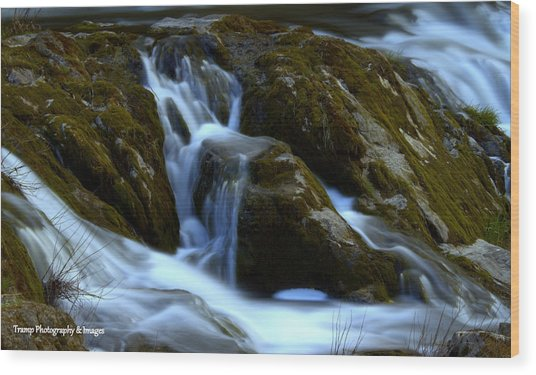 Water And Stone Wood Print