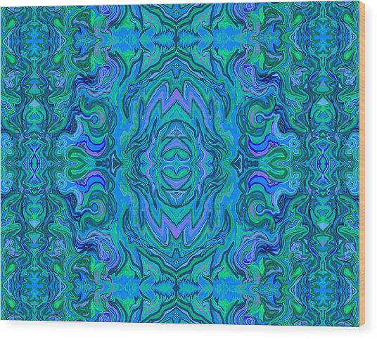 Water Art Pattern  Wood Print