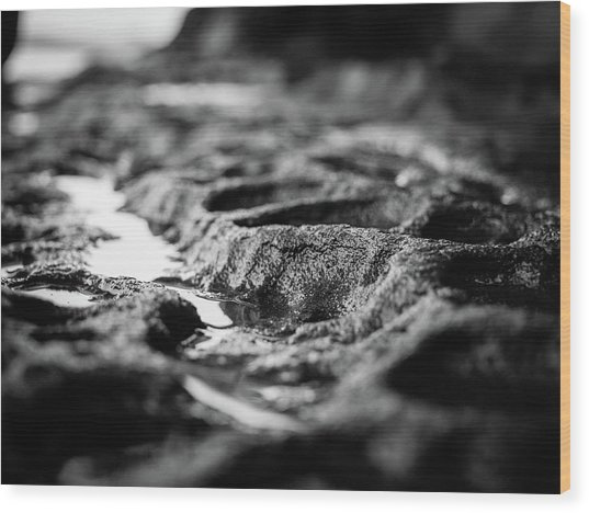 Water Carvings Wood Print