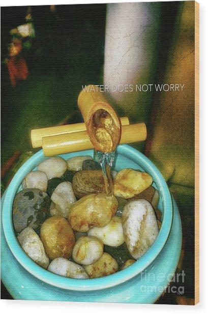 Water Does Not Worry  Wood Print by Steven Digman