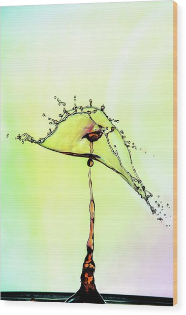 Water Drop #7 Wood Print