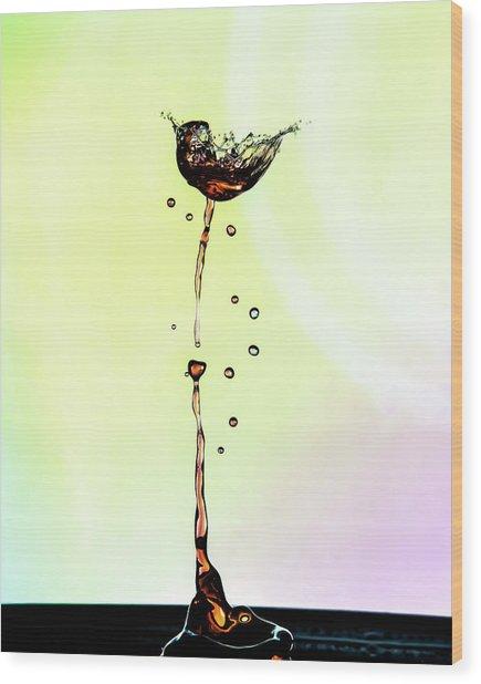 Water Drop #9 Wood Print