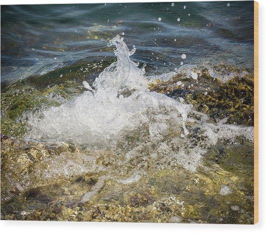 Water Elemental Wood Print
