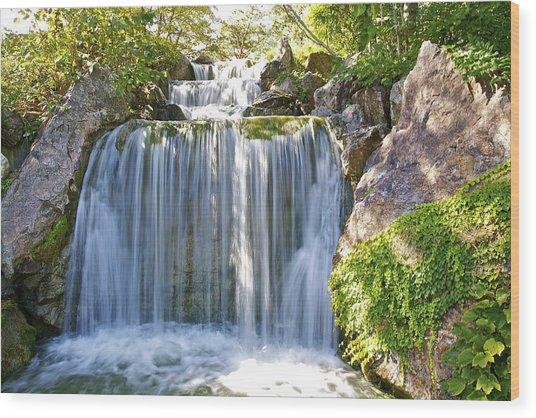Water Fall  Wood Print by Robert Joseph