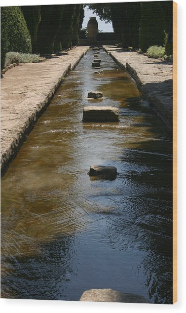 Water In The Balchik Garden Wood Print
