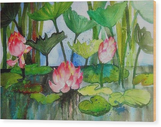 Water Lillies Two Wood Print