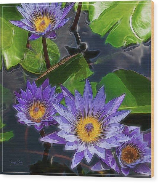Water Lily Wood Print by George Moore