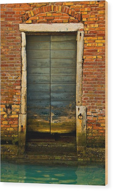 Water-logged Door Wood Print