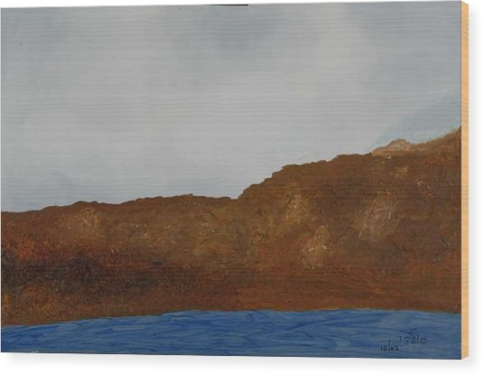 Water Mountain And Sky   Wood Print by Harris Gulko