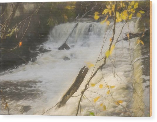 Water Over The Dam. Wood Print