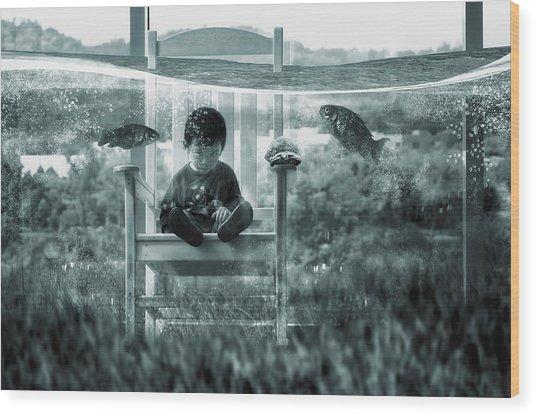 Water Playground Wood Print