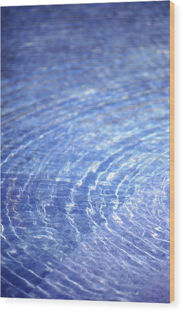 Water Ripple Wood Print by John Foxx