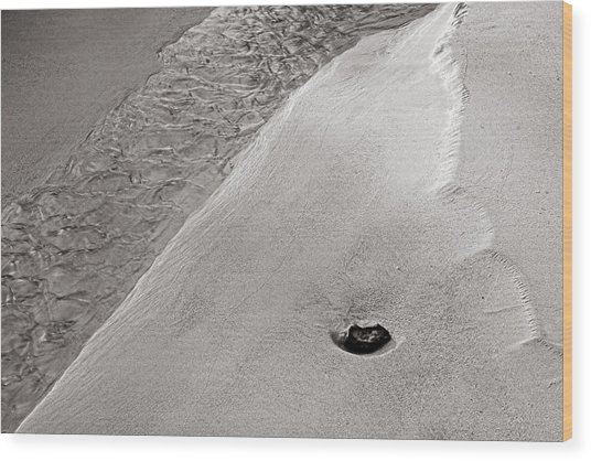 Water-sand-stone-st Lucia Wood Print