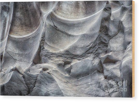 Water Sculpting Rock Art By Kaylyn Franks  Wood Print