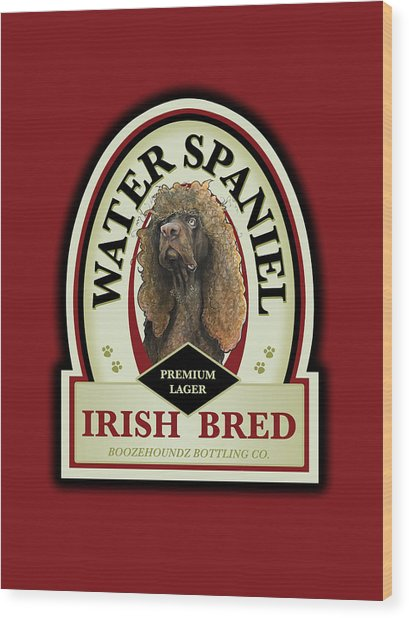 Water Spaniel Irish Bred Premium Lager Wood Print