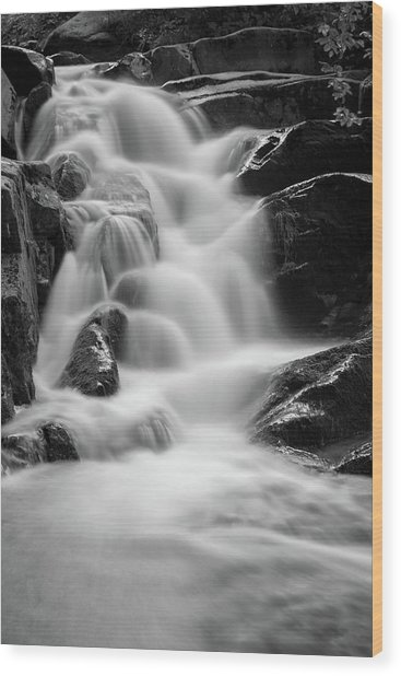 water stair in Ilsetal, Harz Wood Print