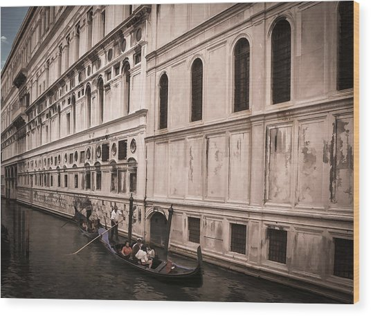 Water Taxi In Venice Wood Print