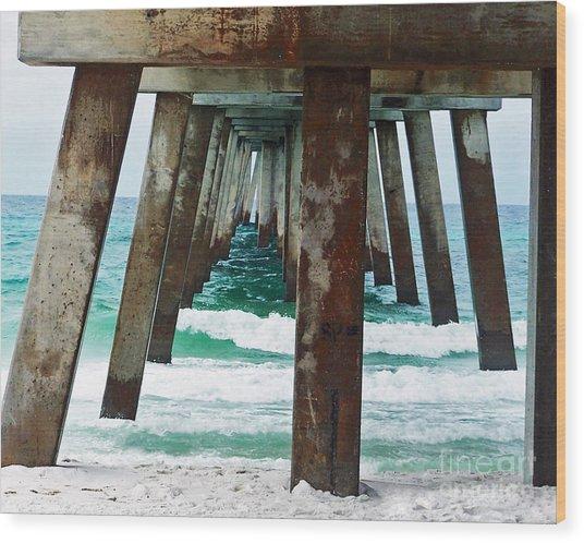Water Under The Bridge Wood Print by Amanda  Sanford