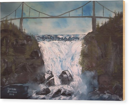 Water Under The Bridge Wood Print by Campbell Dickison