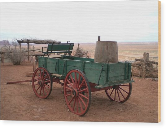 Water Wagon Wood Print by Fred Wilson