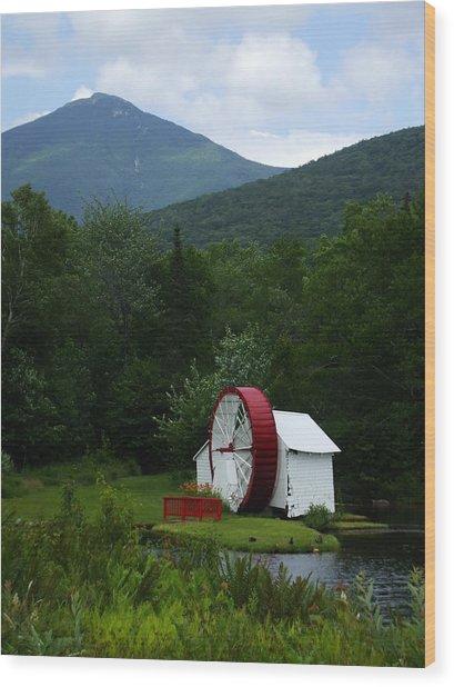 Water Wheel  Wood Print by John Prestipino
