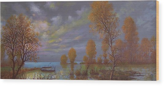 Water World Of Light Wood Print by Jozsef Horvath
