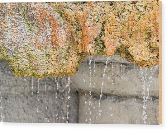 Water-worn Fountain Wood Print