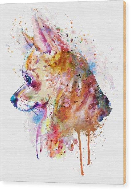 Watercolor Chihuahua  Wood Print