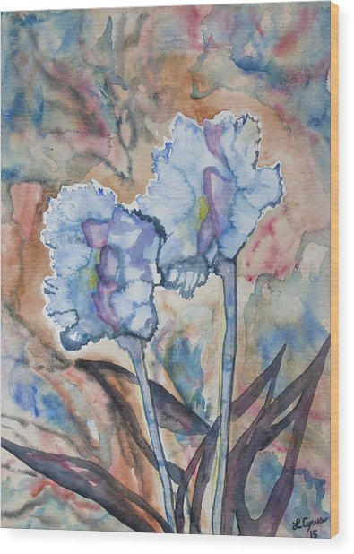 Watercolor - Orchid Impression Wood Print