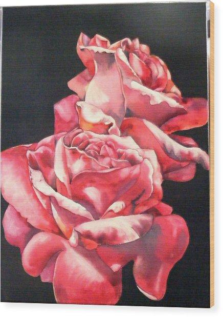 Watercolor Rose 2 Wood Print
