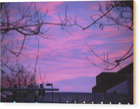 Watercolor Sky Wood Print