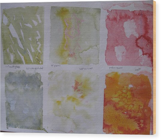 Wood Print featuring the painting Watercolour II Two by AJ Brown