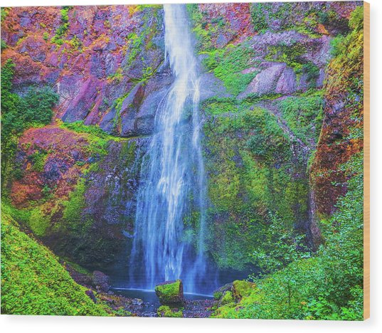 Waterfall 1 Wood Print
