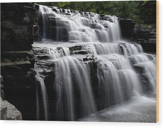 Waterfall 2 Wood Print