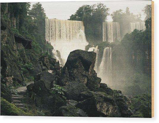 Waterfall 9 Wood Print