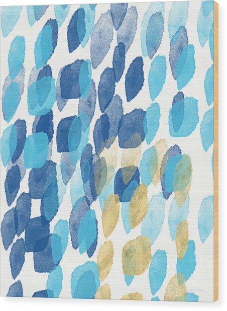 Waterfall- Abstract Art By Linda Woods Wood Print