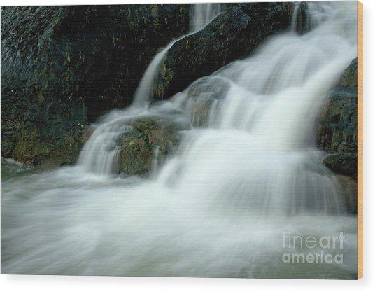 Waterfall Cascading Into Li Jiang River Wood Print by Sami Sarkis