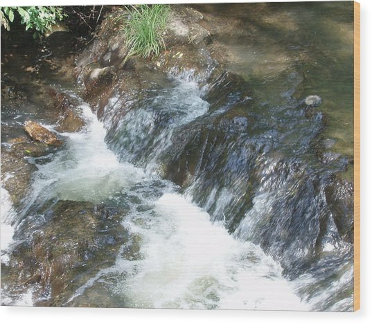 Waterfall Cresendo Wood Print