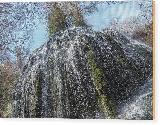 Waterfall From Below Wood Print