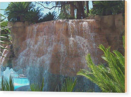 Waterfall Las Vegas Nevada Wood Print by Alan Espasandin