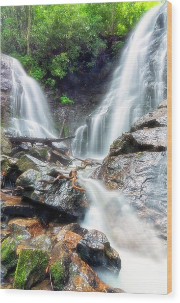 Waterfall Silence Wood Print